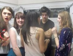 harry styles at university party