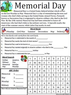 memorial day 2014 lesson plans middle school