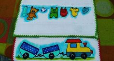 Fralda de boca. #Pinturaemtecido#varal#carro#artesanato#pinturaemfralda