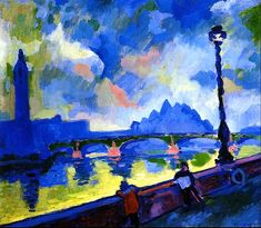 The Thames, Westminster Bridge Andre Derain - 1906