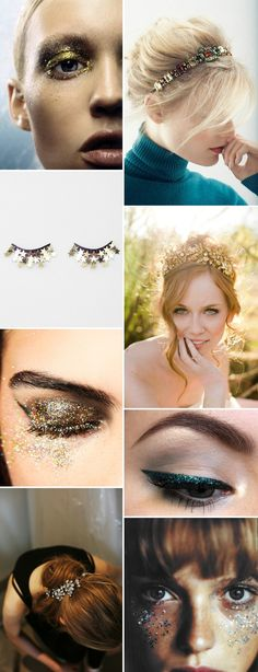 A Sparkling Inspiration Post Showing You How To Integrate A Golden, Metallic, Glittery and Sparkly Theme Into Your Big Day | Rock My Wedding