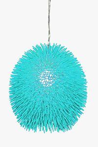 Fun & colorful aqua Urchin light fixture from Varaluz.