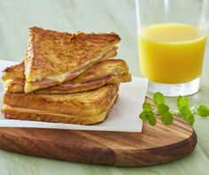 French toast ham and cheese-featured_image Food Categories, Ham And Cheese, French Toast, Brunch, Dinner Recipes, Food And Drink, Bread, Cooking, Breakfast