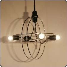 Retro start   Cirkels Mobile B-1021 Hanging Lamp by Walter Leeman for Raak Amsterdam