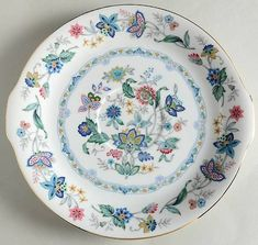 """Garden Of India"" china pattern with butterflies and pink flowers from Sadek."