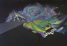 160x120 cm acryl and oil on canvas
