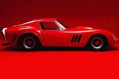 A fast red car...well, a '69 Camero, not a Ferrari.