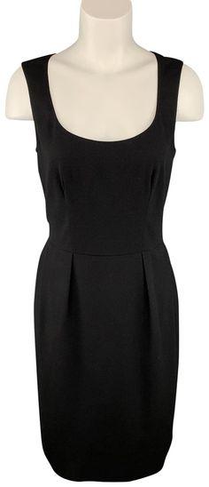 Saint Laurent Black Wool / Elastane Shift Mid-length Cocktail Dress Size 6 (S) Saint Laurent Dress, Ysl Heels, Wool Dress, Luxury Designer, Black Wool, Mid Length, Luxury Fashion, Money, Formal Dresses