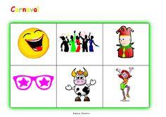 Bingo carnaval groen moeilijk