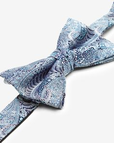 GROOM AND GROOMSMEN: Give your best man, brother, or groomsmen a gift they will treasure for a lifetime. Ted's bow tie will adorn at black or blue tux with a delicate paisley bow tie perfect for wedding celebrations.