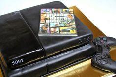 Gâteau PS4 + GTA V. #GeekFood