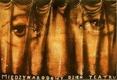 International Theater Festival Miedzynarodowy Dzien Teatru Czerniawski Jerzy Polish Poster.pl