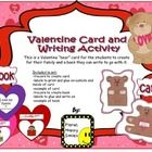 "This is a Valentine ""bear"" card for the students to create for their family and a book they can write to go with it.  The kids love to create cards..."