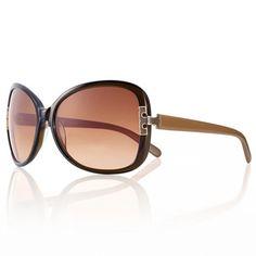 Tory Burch Women's 'TY 7022' Olive Khaki/ Brown Gradient Oval Sunglasses