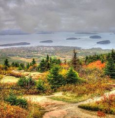 Frenchman Bay and the Porcupine Islands at Acadia National Park - photo by Michael Blackburn