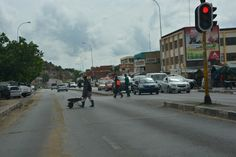 Entering Maseru South Africa, Street View, Country, Rural Area, Country Music