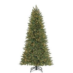 Holiday Living 6.5ft Pine Pre-Lit Artificial Christmas Tree with 400 Clear Incandescent Lights