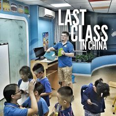I am disappointed to say that today was the last day for my best friend in China.  He isn't gone quite yet but it makes the sting no less. I was lucky to catch this picture of him two minutes before the end of his last class. #lastclass #sad