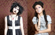 Aux29_StMaryC Soft, innocent, dark, and mysterious: the new fresh face of goth for back to school and back to work.