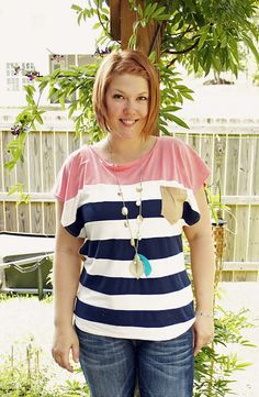 "Alida Makes: ""Nautical Diva"" Color Block Shirt Tutorial"