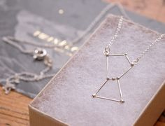 Orion constellation necklace sterling silver by Twinklebird