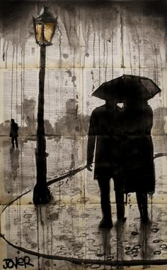 "Saatchi Online Artist: Loui Jover; Pen and Ink, 2013, Drawing ""raindrops"""