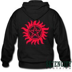 Supernatural Tattoo Shirt Series Movie Sweatshirt hoodie tshirt Womens and Mans Long Sleeve Screen Printing