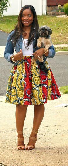 Love her skirt ~Latest African Fashion, African Prints, African fashion styles, African clothing, Nigerian style, Ghanaian fashion, African women dresses, African Bags, African shoes, Nigerian fashion, Ankara, Kitenge, Aso okè, Kenté, brocade. ~DKK