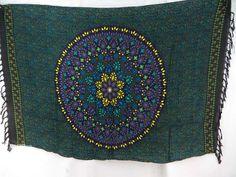 bohemian mandala circle sarong tapestry wall hanging black teal blue $5.25 - http://www.wholesalesarong.com/blog/bohemian-mandala-circle-sarong-tapestry-wall-hanging-black-teal-blue-5-25/