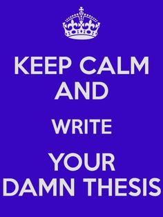 words for a thesis