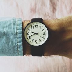 Muji watch via Teodorik Mensl on Instagram. Love the simplicity!