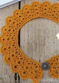 Crochet Peter Pan Collar, de Emma Escott. http://www.ravelry.com/patterns/library/crochet-peter-pan-collar