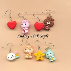 He encontrado este interesante anuncio de Etsy en https://www.etsy.com/es/listing/167640632/earrings-care-bear-polymer-clay-fimo