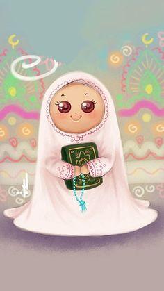 Sekerr gibi 🍬 Galaxy Phone Wallpaper, Daisy Wallpaper, Pink Wallpaper Iphone, Cartoon Girl Drawing, Girl Cartoon, Islamic Art Canvas, Ramadan Poster, Eid Stickers, Islamic Cartoon