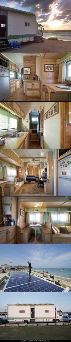 Joe's Truck House. A work truck converted into a rolling home. Photos by Ilan Nachum