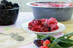 I love to cook Blackberry Cobblers in the same blue enamel pan Granny used (photo by Jackie Garvin)