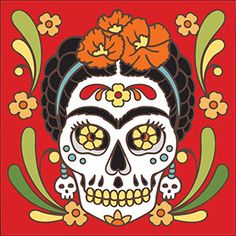 Hang these colorful Day of the Dead ceramic tiles in a frame or install a few in your kitchen or bath for a unique home decoration! Depicting scenes of a joyful and active afterlife, they are also great fun for any Day of the Dead or Halloween celebration. Be sure to view the alternate images next to each product for a larger view.