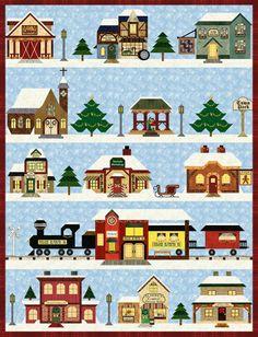 Pam Bono, Holiday Snow Village, pamsclub.com