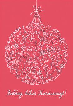 Judit Kaposztas for sixay 2013 Christmas Graphics, Christmas Cards, Merry Christmas, Illustration, Drawings, Happy, Chalk Board, Advent, Samsung