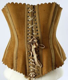 Corset Maison Léoty (French) Date: 1870–89 Culture: French Medium: leather, steel