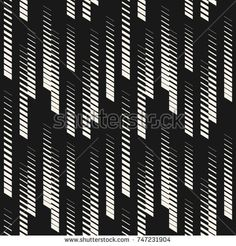 Abstract geometric seamless pattern with vertical halftone lines, tracks, stripes. Extreme sport style illustration, hipster fashion design. Monochrome graphic texture, black and white. - Stock vector