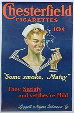 Chesterfield Cigarettes (1919) by J.C. Leyendecker