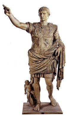 The Augustus of Prima Porta, a statue of Augustus Caesar found in the villa of his wife Livia.