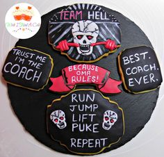 Team Hell Cookies by Wish I Had A Cake