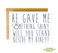 Will You Be My Bridesmaid Funny Card | Shopswell