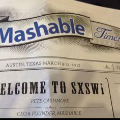 Mashable in print. Unique  #SXSW