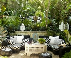 Moroccan inspiration outdoor chill sofas
