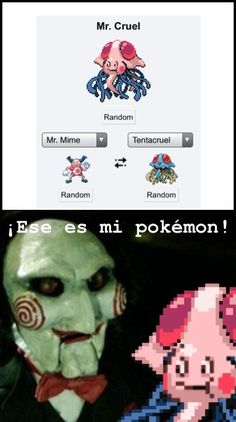 Memes en español: El Pokémon de Saw →  #memesdivertidos #memesenespañol #memesparafacebook #Memestumblr #Memeswhatsapp