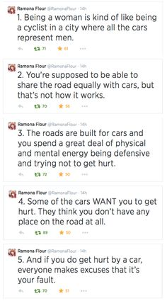 Why were you on the road? Why didn't you build your own cycle lane? Why didn't you stay at home instead of cycling in the first place? Why do you own a bike? That's risky business. I need a complete abstinence from bikes, that's the only safe way not to get hit by a car.