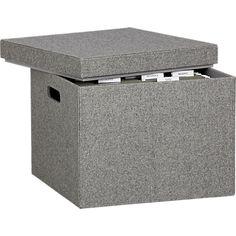 grey felt file box in office accessories | CB2